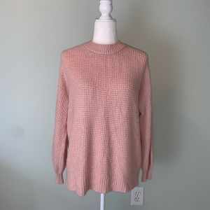 American Eagle pink Waffle-knit sweater #3251